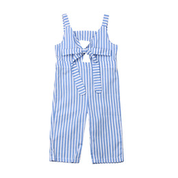 infant baby clothing UK - 0-24M Newborn Stripe Romper Infant Baby Girls Long Romper Jumpsuit Playsuit Bow One Piece Outfits Baby Clothing