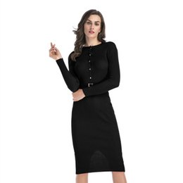 8bf13a74ee Womens Bodycon Dress 2019 New Arrival Spring Brief Women Commuter Dresses  Womens Work Skirt Ladies Long Sleeve Dress Solid Color Clothing