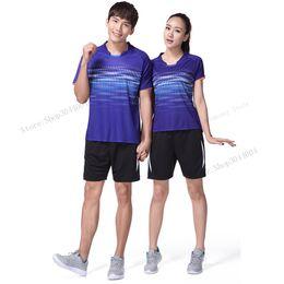 Badminton Games Australia - Adsmoney Women Men 3 colors table tennis clothes pants Suit team game short sleeve T Shirts Running Quick badminton shirt shorts