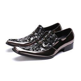 $enCountryForm.capitalKeyWord Australia - Vintage Printing Flower Men Oxford Shoes Slip On Formal Dress Office Flats Plus Size 46 Handmade Wedding Shoes Zapatos Hombre