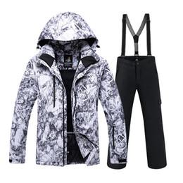 Warm Waterproof Pants Men Australia - SAENSHING Ski Suit Men Waterproof Ski Jacket Snowboard Pants Super Warm Breathable Snowboarding Suits Outdoor Winter Snow Set