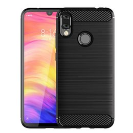 $enCountryForm.capitalKeyWord Australia - For Redmi Note 7 and Note 7 Pro Slim Soft Anti-slip Carbon Fiber brushed TPU Cellphone Case with free shipping