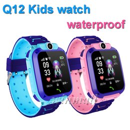 $enCountryForm.capitalKeyWord NZ - Best Gift Q12 Kids Smart watch GPS Tracker 1.44 inch Touch Screen Children Student Phone Watch Waterproof SOS Camera Voice Chat APP control