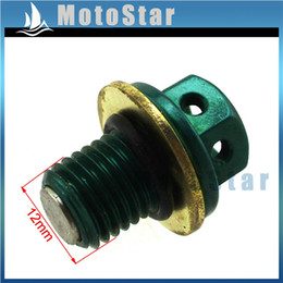 quad bike wholesale Canada - Green Magnetic Oil Drain Bolt Plug For 50cc 70cc 90cc 110cc 125cc 140cc 150cc 160cc Lifan YX Zongshen Engine Dirt Bike ATV Quad