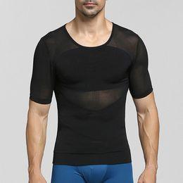 $enCountryForm.capitalKeyWord Australia - Men Gynecomastia Chest Shaper Slimming T-shirt Waist Abdomen Control Big Belly Trimmer Undershirt Compression Tshirt Body Shapers