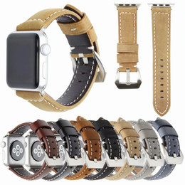 genuine watches NZ - Frosted Genuine Leather Strap For Apple Watch Band iwatch Sizes 38mm 42mm Replament Wristband Bracelet Strap