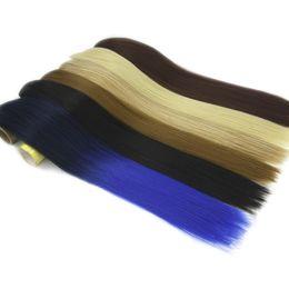 Clip Bangs Black Hair Australia - 120g High Temperature Fiber Synthetic Hair Black To Red Gray Hair Pad Clip In Hair Extension Cheveux