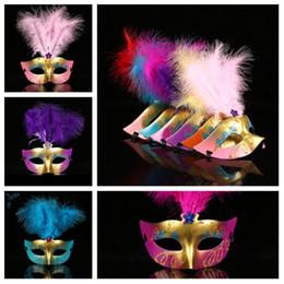 $enCountryForm.capitalKeyWord Australia - new Halloween Party Masks Masquerade Masked ball Venice Carnival Mardi Gras Wedding mask feather fox mask Halloween Supplies T2I5211