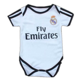 320ee2ac3e44a 18 19 Real Madrid Baby Soccer Jersey 2018 MODRIC BALE ASENSIO kids Football  Shirt Top ISCO BENZEMA Home Conjoined Suit