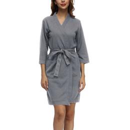 6e63563ea7 HEFLASHOR Women Men Comfortable Bathrobe Nightgown Sashes Lace Up Sleepwear  Couple Spring Sexy Summer Pyjamas Robes Plus size