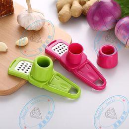 Gadgets Utensils Australia - Garlic Ginger press Cutter Grinding Planer quick Slicer Mini Garlic Grater Cooking Tool gadgets Kitchen Utensils Accessories