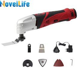 speed cutter NZ - 12V Cordless Multifunction Oscillating Tool Set Variable Speed Electric Trimmer Sander Power Renovator Cutter with Saw Blade