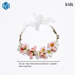 hair flower headbands Canada - New Arrivals Flower Headbands For Girls Kids Flower Headband Baby Hair Bands Mommy & Kids Hair Accessories Floral Wreath