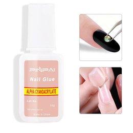 $enCountryForm.capitalKeyWord NZ - G008-10 Maniucure Glue Professional Rhinestone Nail Art Glue With Brush 10g bottle Remove False Nail Tips Glue
