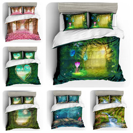 $enCountryForm.capitalKeyWord Australia - Mysterious Forest Series Bedding Set King Size Beautiful 3D Duvet Cover Queen Home Textile Double Single Bed Set With Pillowcase 3pcs