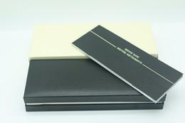 Black Wood Box Australia - Luxury design Black Wood frame Pen Box For mb Fountain Pen Ballpoint Pen Roller Ball Pens Pencil Case with The Warranty Manual A8