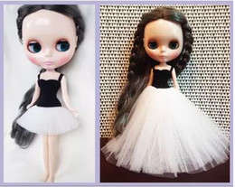 ballet gifts for girls 2019 - 1 6 fashion doll dress Blyth White Black DIY Clothes Ballet Dress for 1 6 Blyth Doll accessories 30cm pullip Girls Toy G