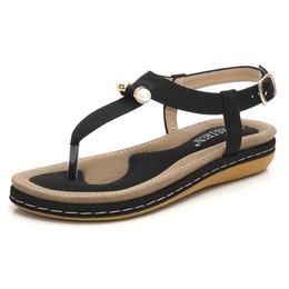 Chinese  Summer Women Sandals Women Shoes New Flat Sandals Ladies Shoes Woman Sandalie Bohemia Flip Flop Beach Sandalias Plus Size 36-44 manufacturers