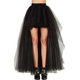 Women Summer Tulle Skirt Long Maxi Tutu Skirt High Waist Retro Tuxedo  Faldas Mujer Moda 2018 Women s Wedding Saia d9964eb22fbe