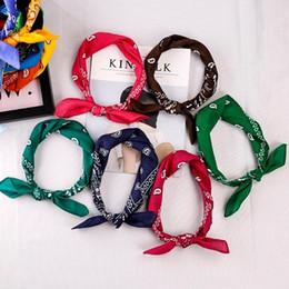 Wholesale Cotton Head Scarves Australia - 55*55cm Hip Hop Cotton Paisley Bandanas Head Wrap Black Red White etc 19 colors Scarves C19011001