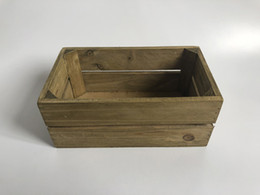 $enCountryForm.capitalKeyWord Australia - 20.5x12xH8.5CM Wholesale Wooden Succulent Pots Rectangle Vintage Rustic wood Box Storage Boxes Free Shipping