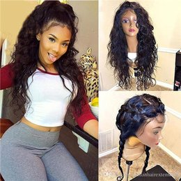 $enCountryForm.capitalKeyWord Australia - Pre Plucked 130% 150% Density 360 Lace Front Human Hair Wigs For Women Brazilian Wavy hair Remy hair full lace wig