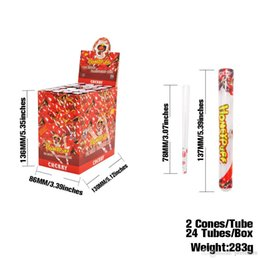 Paper Roll Smoking Australia - wholesale vape smoking rolling paper 78mm 24pc per case with clear tube package mint watermelon honey cheery flavor rolling paper stock!