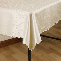 $enCountryForm.capitalKeyWord Australia - Jacquard Printed Flower Table Cloth Pattern Checked Tablecloth Rectangular Round Banquet Wedding Party Hotel Decoration Table Cover