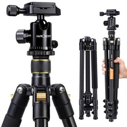 CompaCt tripods online shopping - K F Concept DSLR Tripod Lightweight and Compact Aluminum Camera Tripod with Panorama Ball Head Quick Release Plate