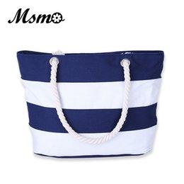 $enCountryForm.capitalKeyWord Australia - Msmo Women Beach Canvas Bag Fashion Color Stripes Printing Handbags Ladies Large Shoulder Bag Totes Casual Bolsa Shopping Bags Y190702