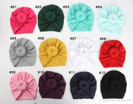 $enCountryForm.capitalKeyWord Australia - Baby Hat Newborn Kids Baby Hats Accessories Solid Caps Turbans Caps Lovely Children Headwear Wrinkle Cap Accessories