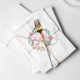Restaurant Towels Australia - 2pcs Pure white cotton mouth cloth, hotel western restaurant pure cotton napkin cloth, wine cup towel does not drop wool