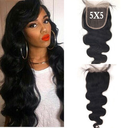 $enCountryForm.capitalKeyWord NZ - Peruvian Hair 5x5 Body Wave Lace Closure Free Middle Part Natural Black Can Be Dyed For Black Women Fast Shipping LaurieJ Hair