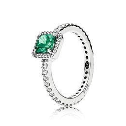 $enCountryForm.capitalKeyWord Australia - NEW 100% 925 Sterling Silver Fashion Popular Charms Wedding Ring For Women Timeless Elegance Green & Clear CZ DIY Jewelry