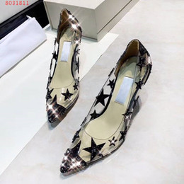$enCountryForm.capitalKeyWord Australia - Hot Sale-new fashion High quality transparent material diamond star shape women dress shoes high-end custom Pointed Toe Women Sandals