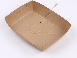 $enCountryForm.capitalKeyWord Australia - 500pcs Cardboard Food Tray Hot Dog French Fries Plates Dishes Food Packaging Box Disposable Dinnerware Tableware
