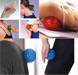 massager for back Australia - 100Pcs Spiky Point Massage Ball Trigger Roller Reflexology Stress Relief for Palm Foot Arm Neck Back Full Body Massager ball