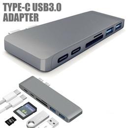 Wholesale Type-C USB3.0 Adapter To HUB Adapter Converter Card Reader 5V3APD 2 USB HUB