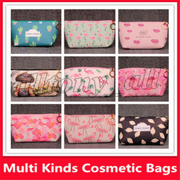 cosmetic beauty style Australia - High Quality flamingos cosmetic MAKE UP bag case beauty toiletry wash bag Travel Pouch Make Up Bags