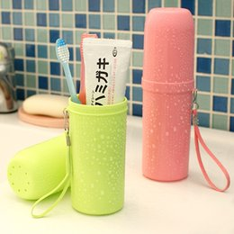 $enCountryForm.capitalKeyWord Australia - Portable Plastic Toothbrush Holder Toothpaste Towel Cover Storage Box Tooth Mug for Outdoor Travel Camping Hiking