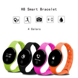H8 Smart Watch Australia - Wholesales Mini H8 Smart Bracelet H8-2 Smart Watch Smart Wrist Smartband Bluetooth 4.0 Sleep Tracker SMS Call Reminder Wristband Updated Top
