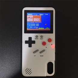 Mini Handheld Game console case TPU case Silica gel protective sleeve Retro Game machine player Color LCD For iphone6 7 8 8plus X XS Max Xr on Sale
