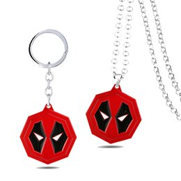 superhero necklaces Australia - Movie Superhero Deadpool Necklace Keychains Metal Jewelry Bag Accessories Key Pendant Gift For Children