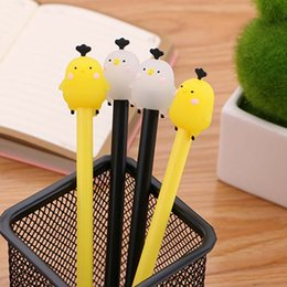 $enCountryForm.capitalKeyWord NZ - Cute chicken gel pen 0.5mm black children Writing Pen Office Eexamination Limited Office Material School Supplies wholesale Free E-PACK