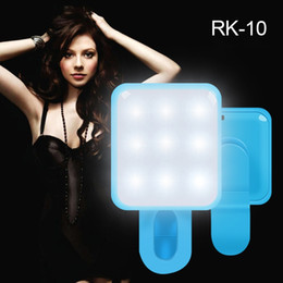 Lighting Cameras Australia - Portable LED Portable Flash Led Camera Mobile phone Clip-on Selfie ring light video light Night Enhancing