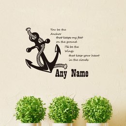 $enCountryForm.capitalKeyWord Australia - Wall Sticker Nautical Anchor Personalized Name Quote You Be The Anchor That Keeps My Feet Kids Baby Room Wall Decal Decor