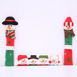 Christmas Kitchen Set Australia - Christmas Decorations Set of 3 Kitchen Santa Claus Snowman Handle Covers - Best Xmas Decoration Idea