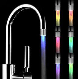 $enCountryForm.capitalKeyWord Australia - Hot LED Water Faucet Light 7 Colors Changing Glow Shower Kitchen Faucet Tap Lamp Temperature Control Light Kitchen Accessories