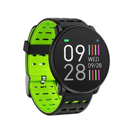 ios compatible Canada - Q88 Smart Watch Men Women Fitness Tracker Heart Rate Monitor Smart Bracelet Blood Pressure Pedometer Android IOS