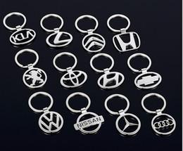 3D Metall Double Side Car Logo aushöhlen Schlüsselanhänger Schlüsselanhänger für NEU